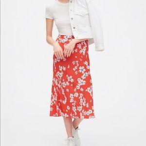 NWT Gap Floral Midi Skirt